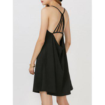 Keyhole Backless Mini Swing Dress