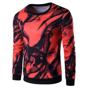 Wash Painting Print Long Sleeve Sweatshirt