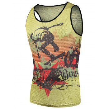 Hip Pop Printed Mesh Tank Top