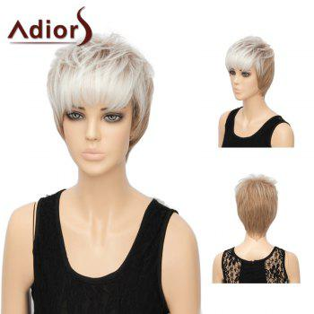 Adiors Short Straight Layered Side Bang Synthetic Wig