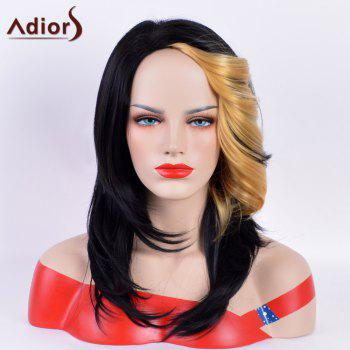 Adiors Long Hightlight Straight Tail Upwards Bang Synthetic Wig