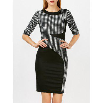 Slim Fit Plaid Dress