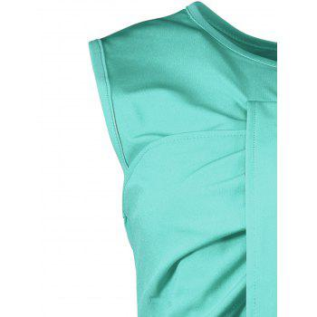 Sleeveless Ruched Sheath Two Piece Dress - XL XL