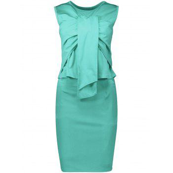 Sleeveless Ruched Sheath Two Piece Dress