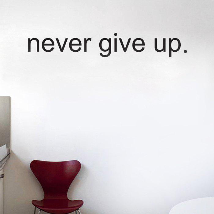 Never Give Up Wall Quote Sticker For Bedrooms цена