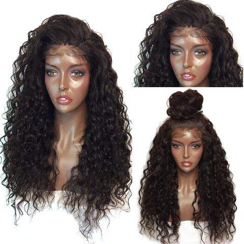 Fluffy Curly Long Lace Front Synthetic Wig - BLACK/BROWN