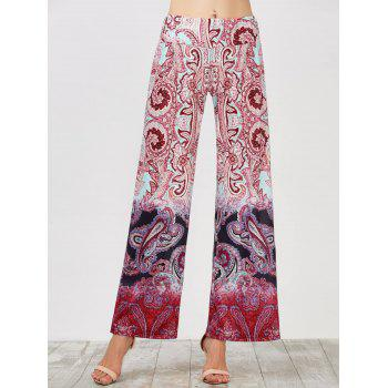 Elastic Waist Wide Leg High Waisted Pants