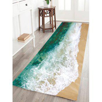 Sea Tide Water Absorptive Flannel Antislip Rug