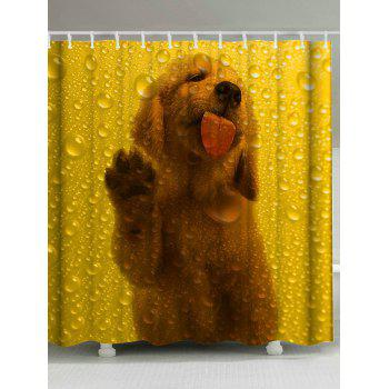 Dog Animal Waterdrop Fabric Shower Curtain