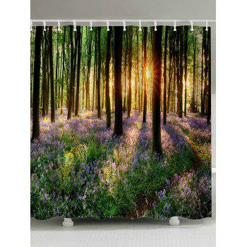 Sunshine Forest Shower Curtain Bathroom Decor