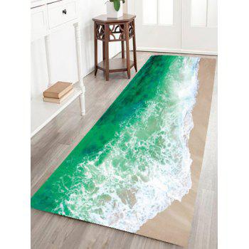 Sea Tide Water Absorption Flannel Antislip Rug