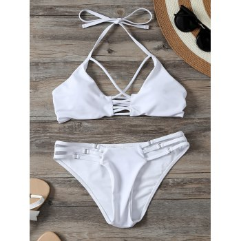 Halter String Bikini with Criss Cross