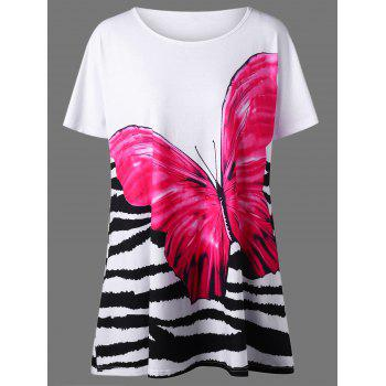 Plus Size Butterfly Longline T-Shirt