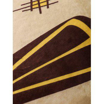 ... Figure Pattern Water Absorption Flannel Skidproof African Rug   LIGHT  BROWN 16*48 INCH ...