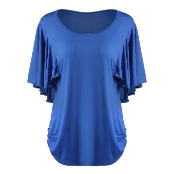 Plus Size Butterfly Sleeve Scoop Neck T-Shirt