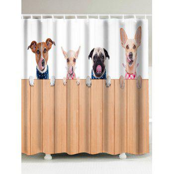 Dog Animal Waterproof Fabric Shower Curtain