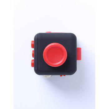 Relieving Stress Squeeze Cube Finger Toy - RED