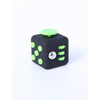 Relieving Stress Squeeze Cube Finger Toy - GREEN