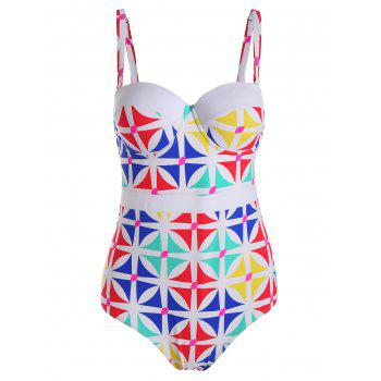 Printed Padded Plus Size One Piece Swimsuit