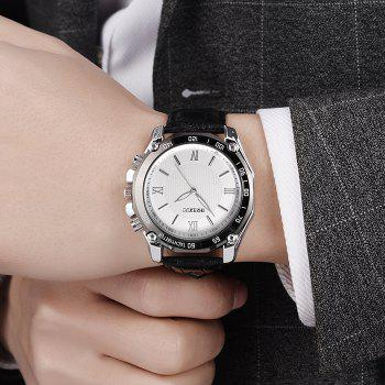 OUKESHI Roman Numeral Tachymeter Watch - BLACK WHITE