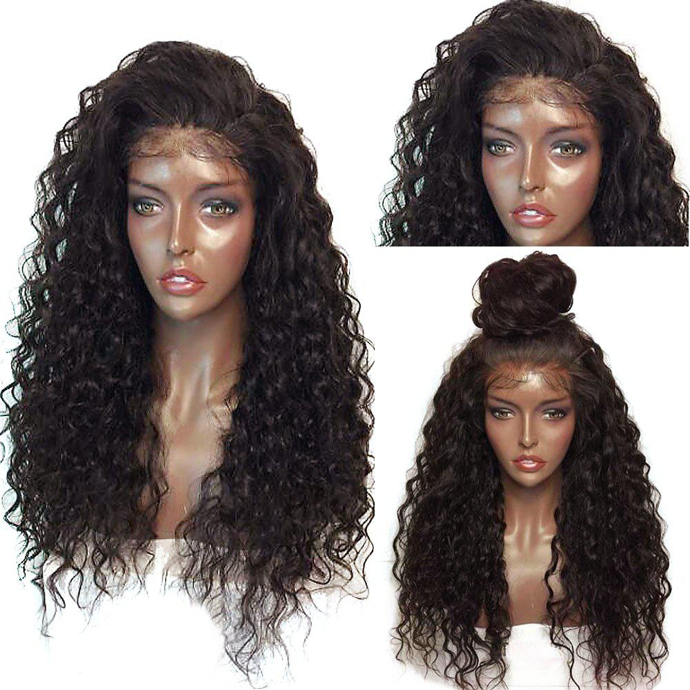 Fluffy Curly Long Lace Front Synthetic Wig long free part fluffy kinky curly synthetic lace front wig