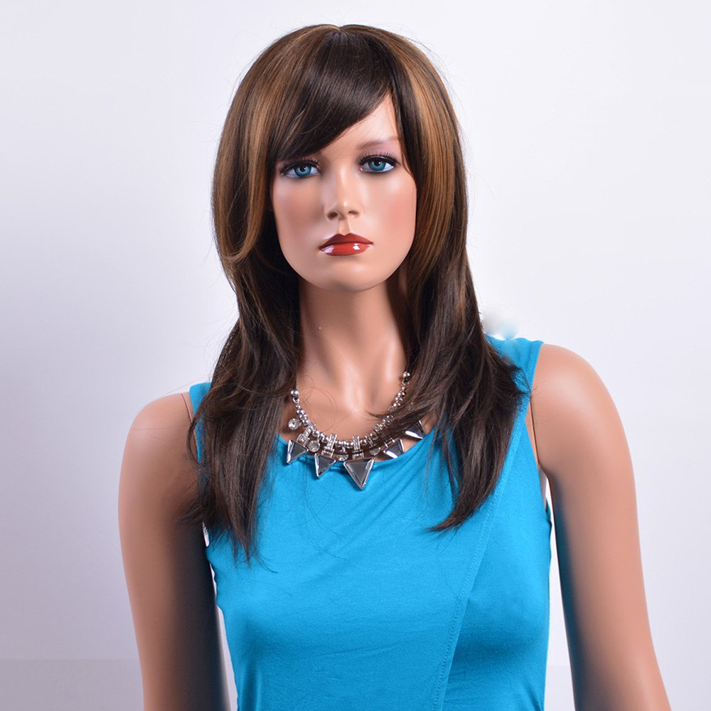Multi-Layered Fluffy Wavy Bouncy Full Bang Mixed Color Capless Stylish Charming Women's Long Wig
