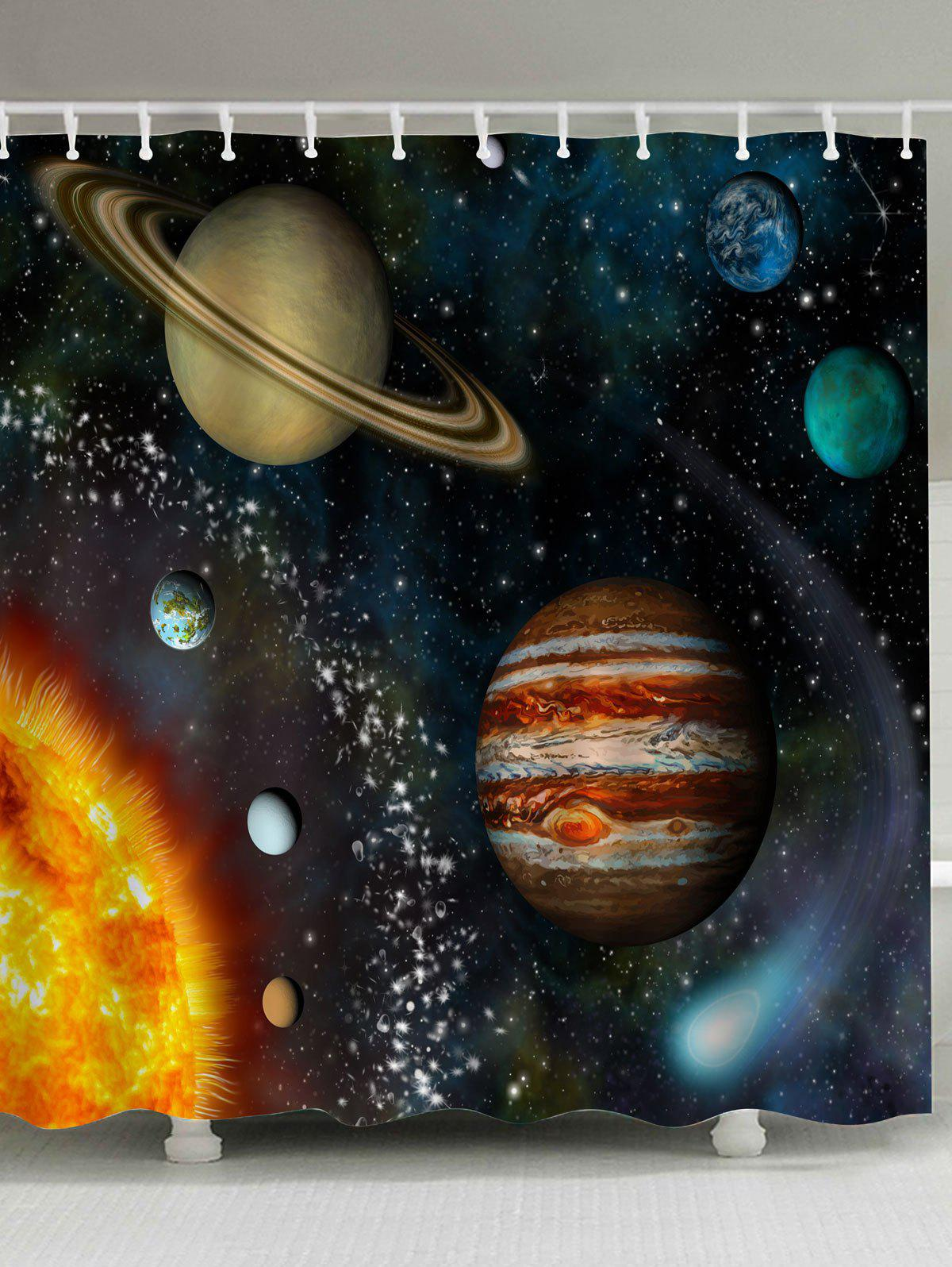 Galaxy Planet Anti-bacteria Shower Curtain beach palm tree waterproof anti bacteria shower curtain