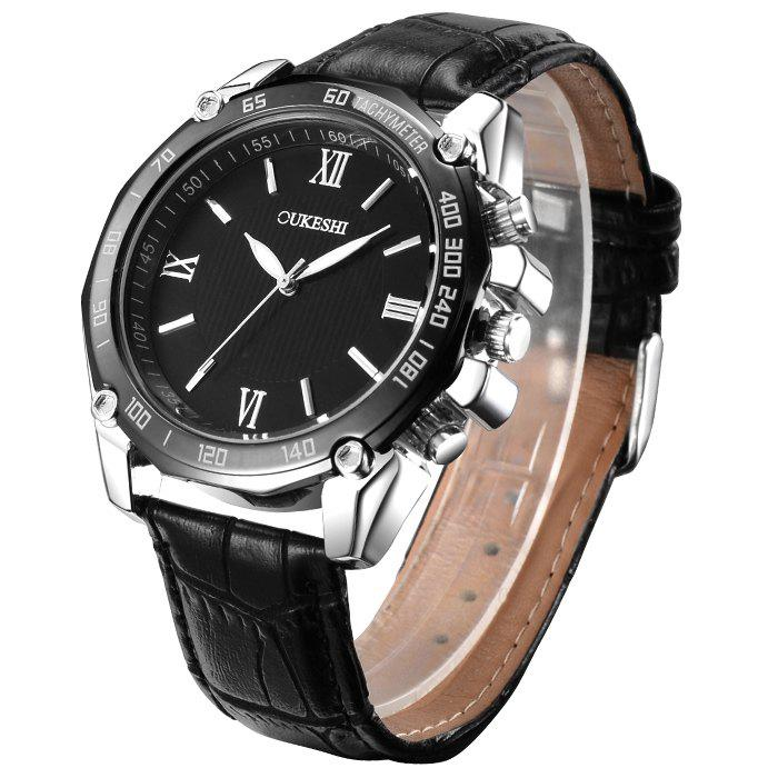 OUKESHI Roman Numeral Tachymeter Watch oukeshi faux leather tachymeter watch