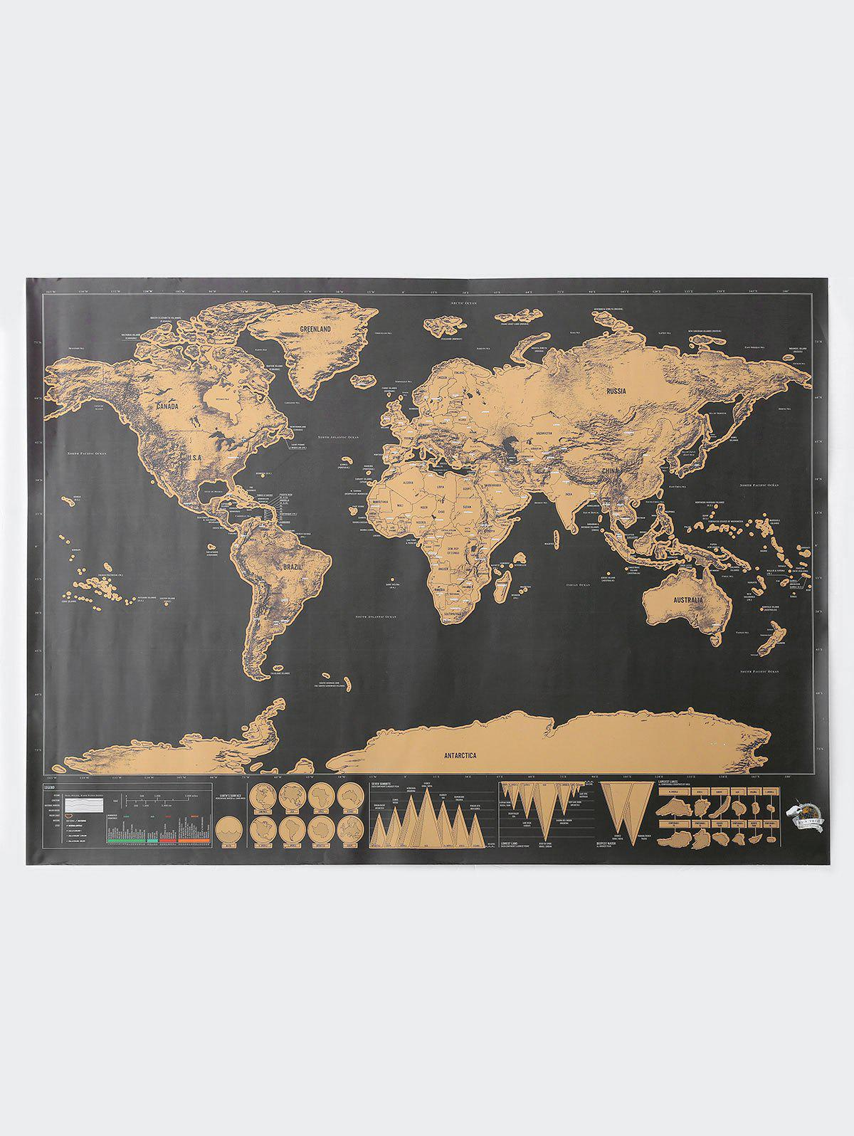 2018 deluxe scratch off world map poster bronze colored cm in deluxe scratch off world map poster bronze colored 825594cm gumiabroncs Gallery