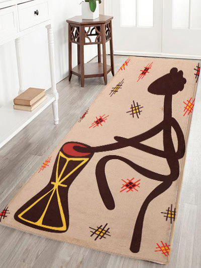 Figure Pattern Water Absorption Flannel Skidproof African Rug indian geometric pattern water absorption flannel antislip rug