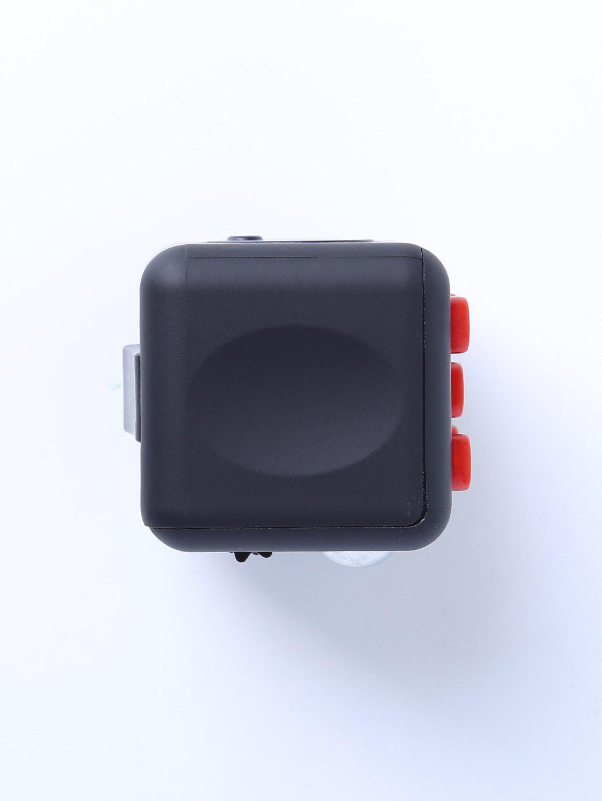 Relieving Stress Squeeze Cube Finger Toy - BLACK