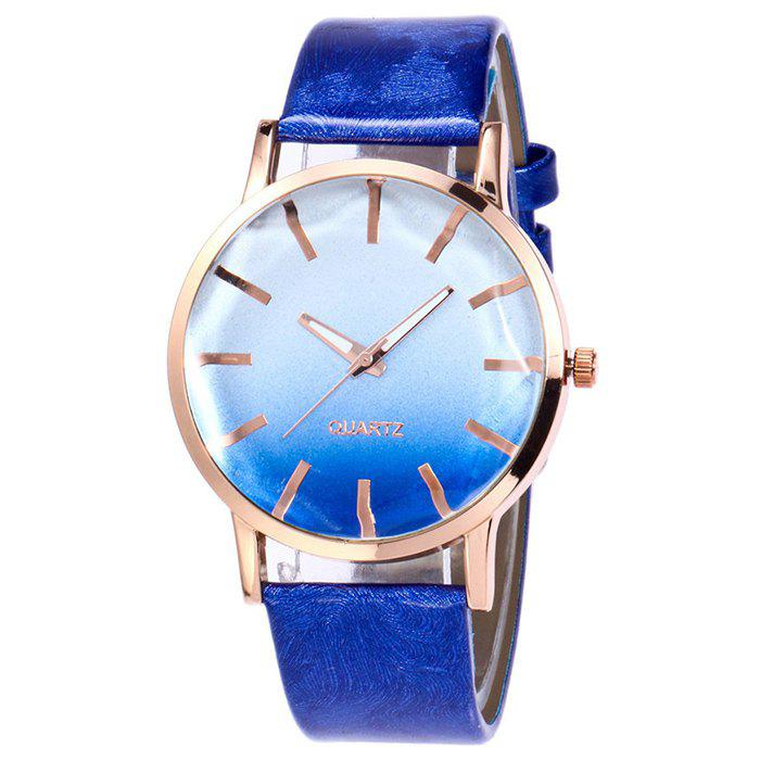 Faux Leather Strap Ombre Watch faux leather glitter ombre watch