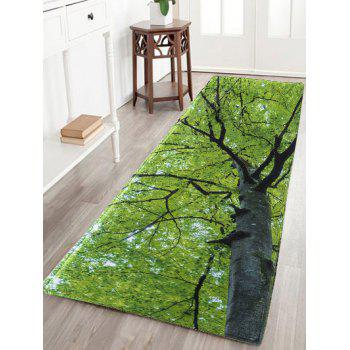 Tree Water Absorption Flannel Antiskid Rug