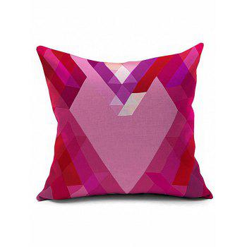 Geometric Heart Shape Bedroom Decorative Throw Pillow Case