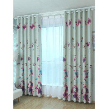 Blackout Floral Window Curtain