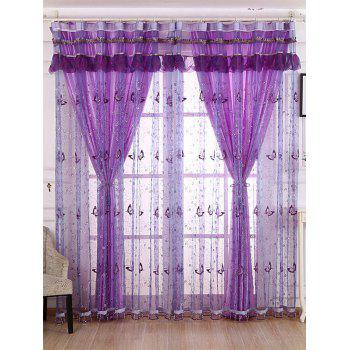 Beads Sheer Sequin Butterfly Window Curtain