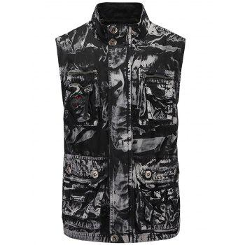Zip Up Pockets Design Cargo Vest
