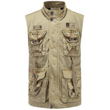 Multi Pockets Zipper Up Cargo Vest
