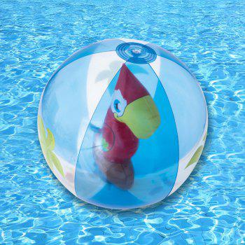 Transparent Inflatable Beach Ball with Animal Inside - RED RED