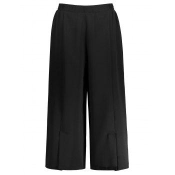 Chiffon Wide Leg Plus Size Pants