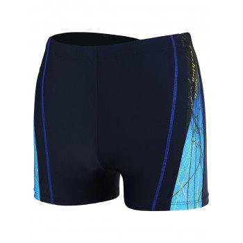 Lace Up Lines Pattern Swimming Trunks