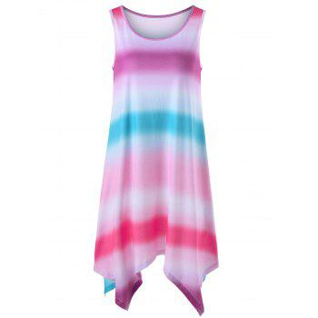 Sleeveless Ombre Handkerchief Hem Dress