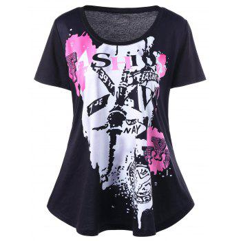 Plus Size Graffiti T-Shirt