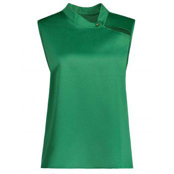 High Neck Plus Size Flare Tank Top