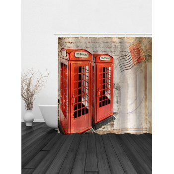 telephone booth fabric unique shower curtain brown beige w59inch l71inch
