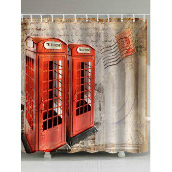 Telephone Booth Fabric Unique Shower Curtain