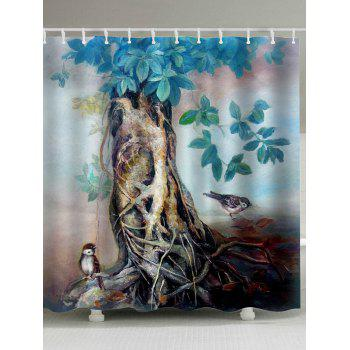 Oil Painting Extra Long Shower Curtain