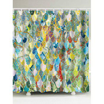 Art Fish Scale Unique Bathroom Shower Curtain