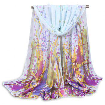 Impressionist Forest Painting Petals Scarf