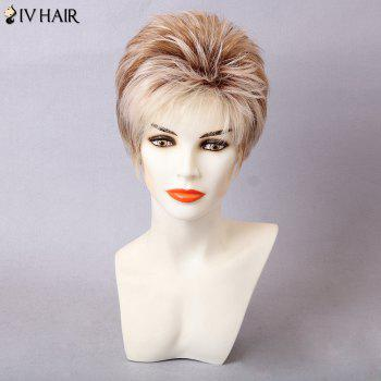 Siv Hair Colormix Layered Side Bang Straight Human Hair Wig